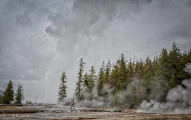 'Grand Geyser Erupting' © Larry A Lyons